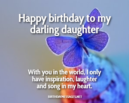 Birthday Wishes On Image Happy To My Darling Daughter