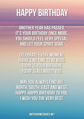 Birthday Poems - Heartwarming Poems for Birthdays