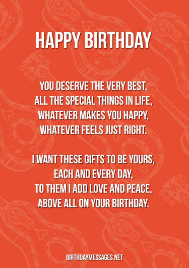 Birthday Poems - Cheerful Poems for Happy Birthdays