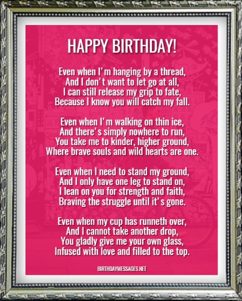Birthday Poems - Sentimental Birthday Poems