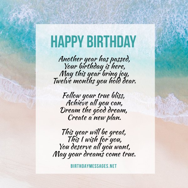 Birthday Poems - Original Poems & Poem Cards for Birthdays