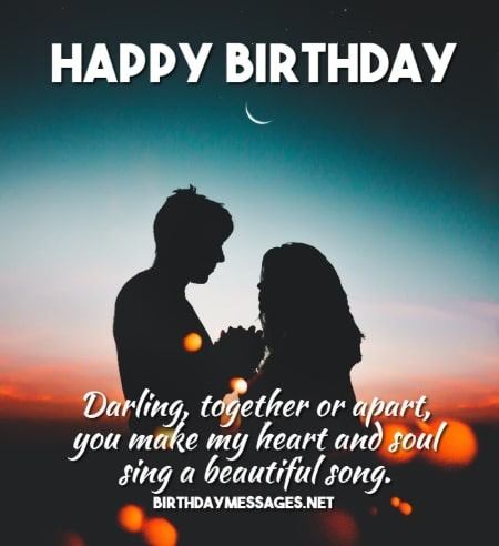 Birthday Wishes - Romantic Birthday Message for Boyfriend, Girlfriend, Husband or Wife