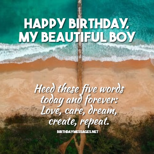 Birthday Wishes - Birthday Message for Son