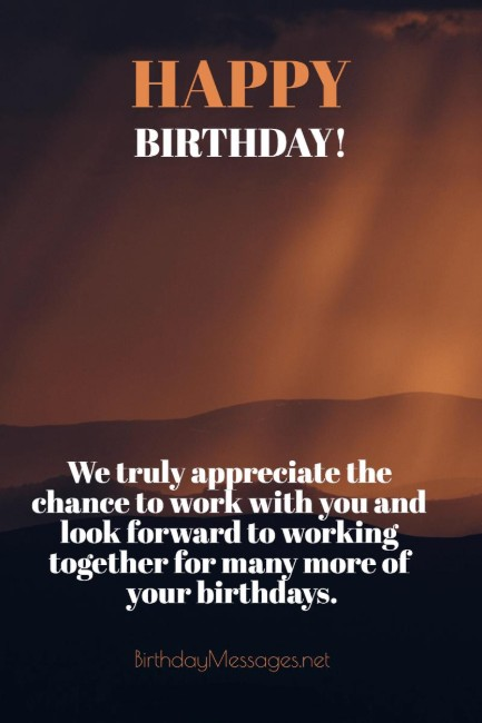 Birthday Wishes: Birthday Message for Client