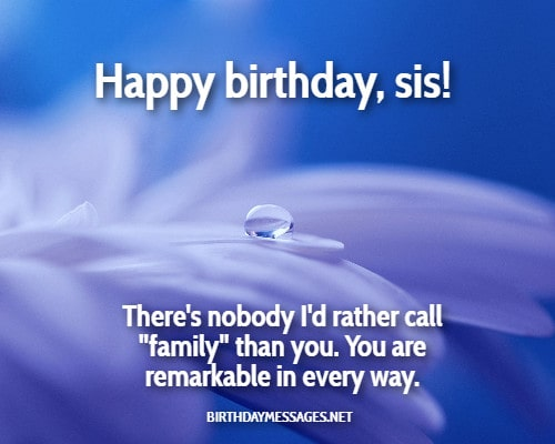 Birthday Wishes - Birthday Message for Sister