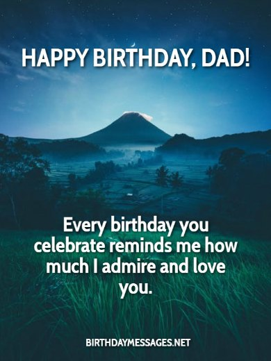 Birthday Wishes: Birthday Message for Father