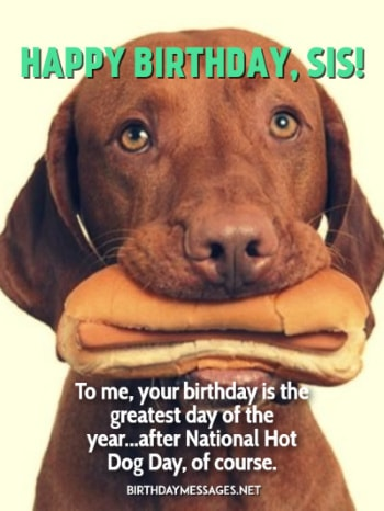 Birthday Images - Funny Birthday Wishes for Sisters