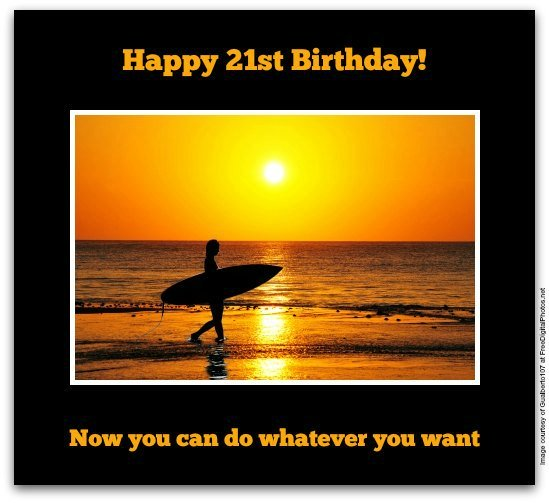 21st Birthday Wishes - Birthday Messages for 21 Year Olds