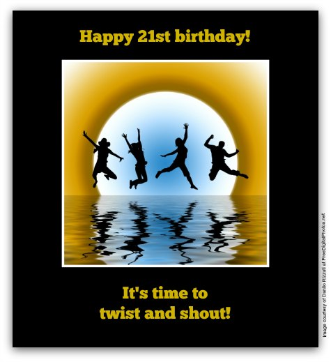 21st Birthday Wishes: Birthday Messages for 21 Year Olds