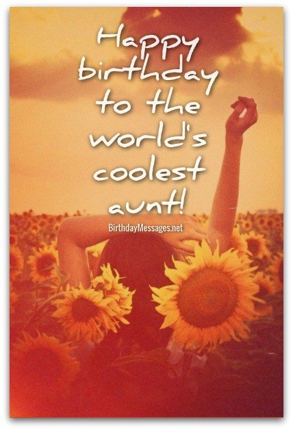 Aunt Birthday Wishes - Birthday Messages for Aunts