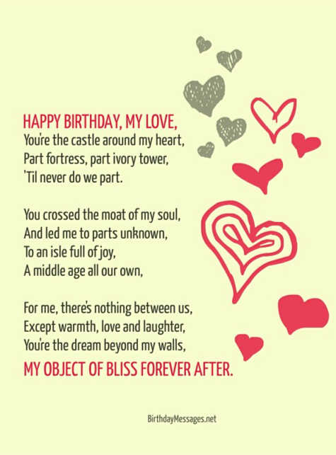Birthday Poems - Romantic Poems for Birthdays