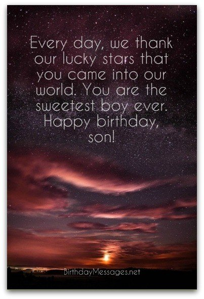 Son Birthday Wishes Unique Messages For Sons